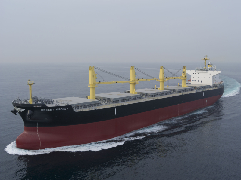 New delivery of our M/V Desert Osprey – Atlantic Bulk